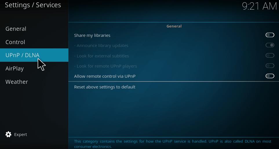 Kodi DLNA client and server setup for krypton 17 - Kodiforu