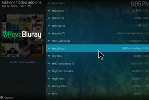 hevc kodi bluray addon