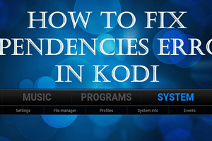 fix failed to install a dependency kodi error