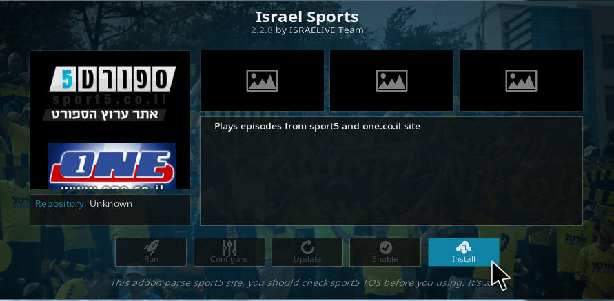 kodi israel live tv