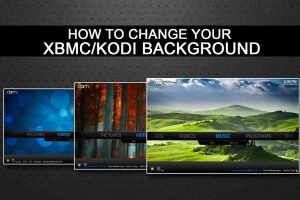 change kodi background