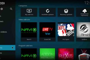 customize kodi menu