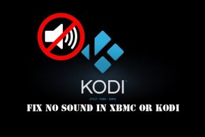 no sound on kodi