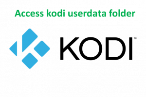 access kodi userdata