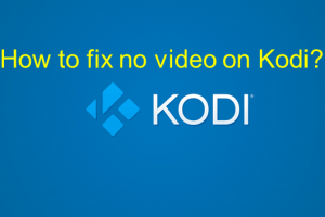 no video on kodi