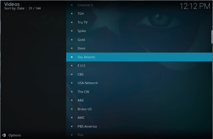 watch sky atlantic on kodi