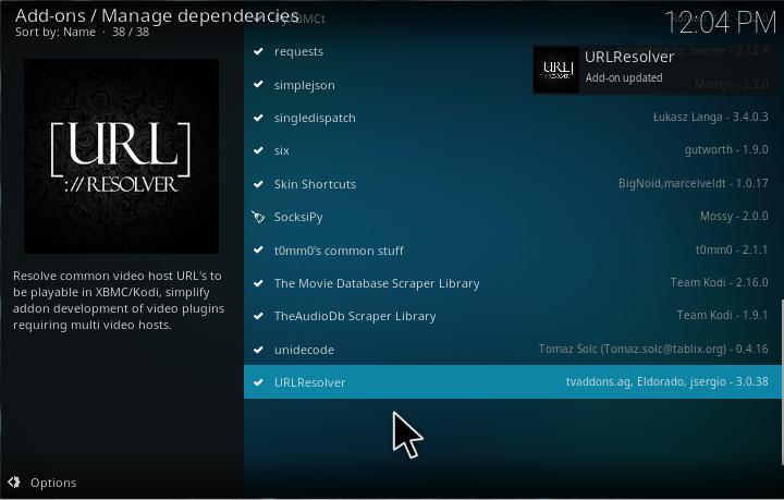 Kodi URL Resolver installation and update guide + fix error