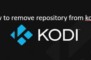 how to remove repository from kodi