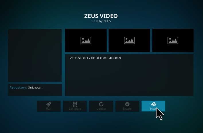 zeus video kodi addon