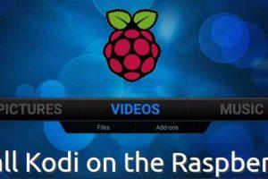 how to install kodi on raspberry pi