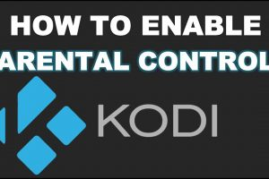 enable parental control on kodi
