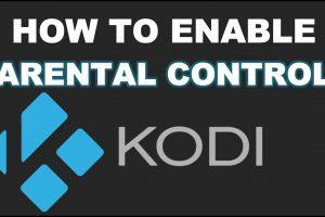 enable parental control on kodi