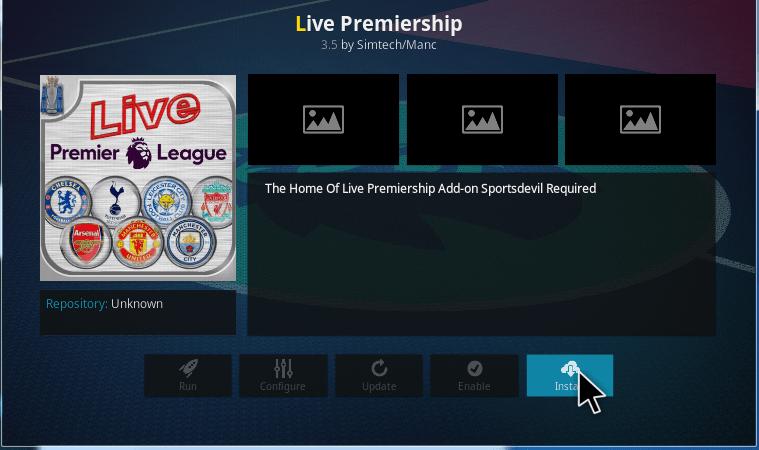 live premiership kodi addon