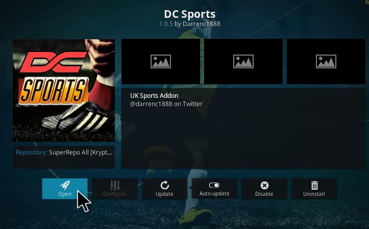 dc sports kodi