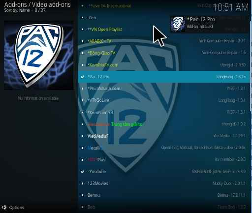 Pac-12 Pro Kodi addon installation guide and review 2019