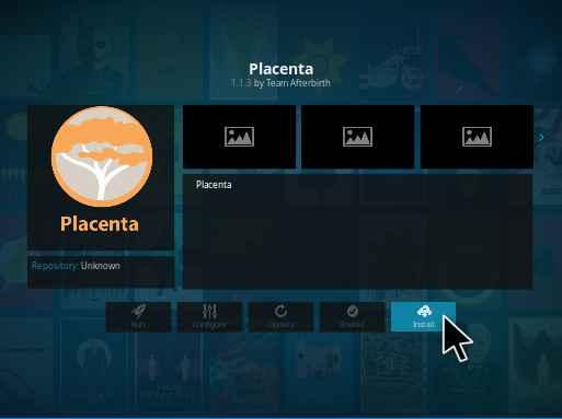 placenta kodi addon