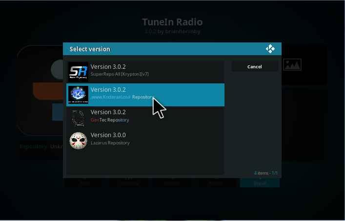 TuneIn Radio Kodi addon Installation guide - Kodiforu