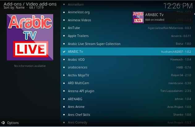Arabic Live TV Kodi addon Installation guide - Kodiforu