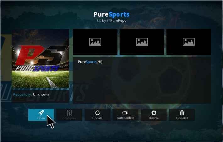 Pure Sports Kodi addon Installation guide - Kodiforu