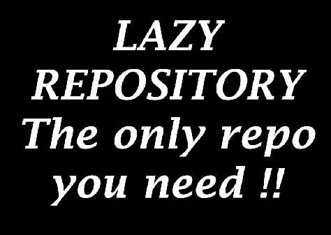 Installation guide for Lazy Kodi Repository (only repo you need